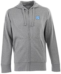 North Carolina Signature Full Zip Hooded Sweatshirt (Grey) by Antigua