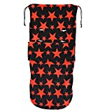 Universal Snuggle Footmuff To Fit Bugaboo Buggy Black Red Stars