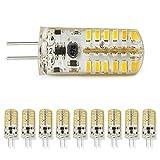 10PCS Warm White 2.4W G4 Connector 12V Low Power Spotlight Crystal LED SMD Light Bulbs
