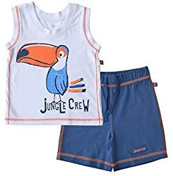 Babeez Baby Boy Vest + Short set (100% Cotton) to fit height 80-86cms
