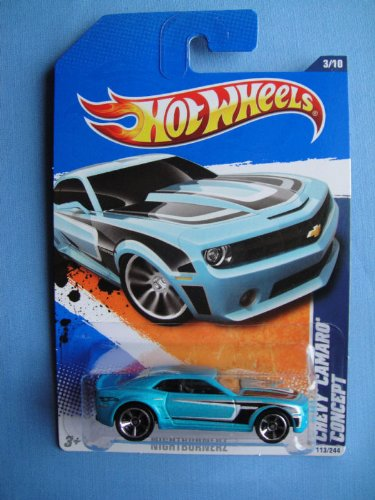 2011 Hot Wheels 113/244 - Nightburnerz 3/10 - Chevy Camaro Concept - 1