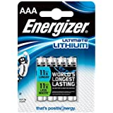Energizer Ultimate Lithium Batteries AAA, 4 Batteries