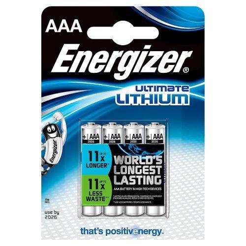 Energizer 629612, Pile AAA a litio (4 Pezzi)