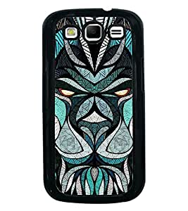 Fuson Premium 2D Back Case Cover Designed bull With blue Background Degined For Samsung Galaxy S3 Neo::Samsung Galaxy S3 Neo i9300i