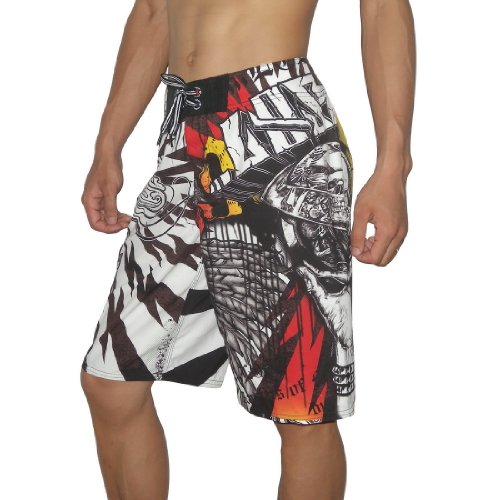 Mens Rusty PSYCHO WARD Skate & Surf Boardshorts Board Shorts - Multicolor(Size: 36)