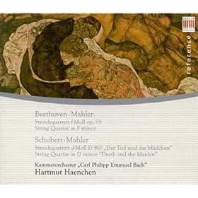 "Ludwig Van Beethoven: String Quartet No. 11, ""Serioso"" / Schubert, F.: String Quartet No. 14, ""Death And The Maiden"" (Arr. G. Mahler) (Haenchen)"