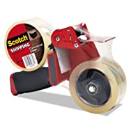Packaging Tape Dispenser with 2 Rolls of Tape, 1.88