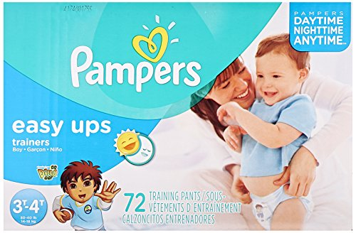 Pampers Easy Ups Training Pants, Size 3T4T Super Pack Boy, 72 Count