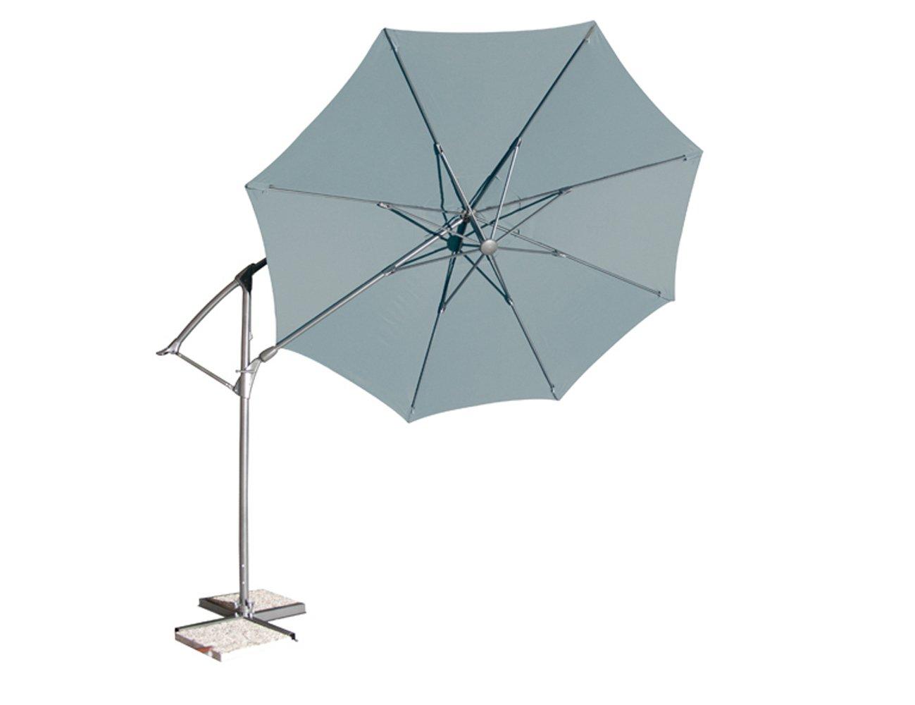 Siena Garden 673238 Catania Ampelschirm Bezug grau Gestell anthrazit Ø 330 cm günstig