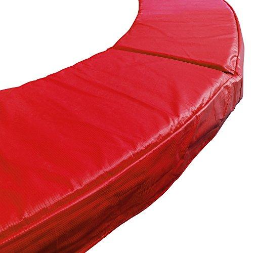 awm Trampolin Federabdeckung Randabdeckung 305 - 460 cm, PVC Randpolsterung (Rot, 396-400cm)