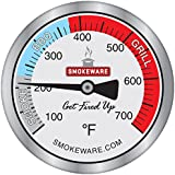 SmokeWare Temperature Gauge for Big Green Egg (Large 3-inch Face)