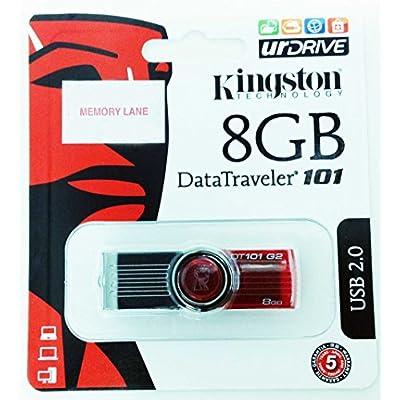 Kingston DataTraveler DT101 G2 8GB USB 2.0 Pen Drive (Red)
