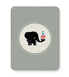 Posterguy Baby Black Elephant With Colorful Hearts Elephant Cartoon With Hearts Mouse Pad