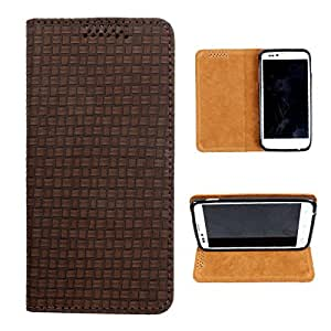 i-KitPit PU Leather Flip Case For Samsung Galaxy S4 Mini (BROWN)