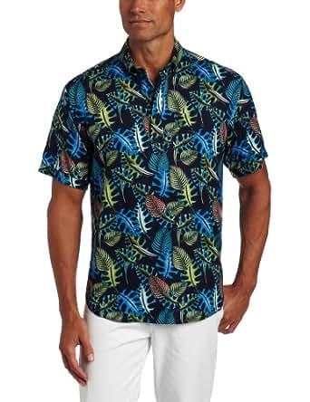 Cubavera men 39 s printed rayon hawaiian shirt at amazon men for Mens rayon dress shirts
