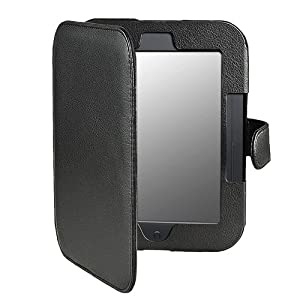 Pu Leather Case for Barnes & Noble Nook 2 / Simple Touch in Black