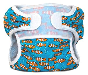 Bummis Swimmi Cloth Diapers, Clown Fish, Medium (15-22 lbs)
