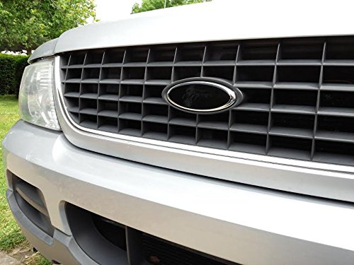 Auto Wrap Vinyl Decal Overlay Cover Fits Ford Emblems pick your size and from Gloss or Satin (matte) Black (5