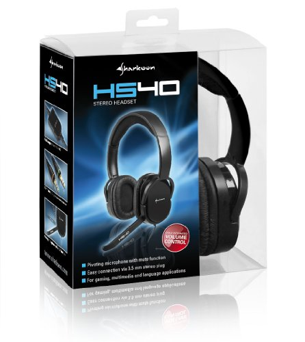 Sharkoon HS40 Stereo-Headset, schwarz