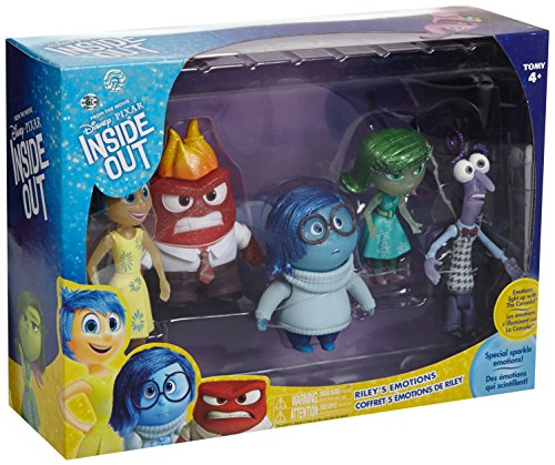 TAKARA TOMY DISNEY PIXAR INSIDE OUT JOY SADNESS FEAR ANGER DISGUST FIGURE 5pcs DS61109