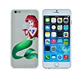Princess Eating/ Little Mermaid Ariel Holding Logo Clear Transparent Case For Apple Iphone 6 (4.7-Inch)