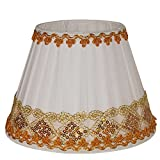 Hand made gold lace Fabric Coolie Pleated Lamp Shade ceiling light