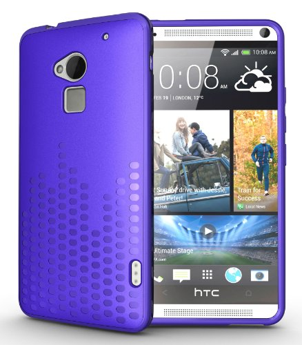 Tudia Ultra Slim Melody Tpu Bumper Protective Case For Htc One Max / Htc T6 (Purple)