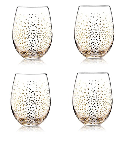 Gift Boutique Holiday Stemless Wine Glasses - Set of 4; Christmas Gifts (Pier One Imports Wine Glasses compare prices)