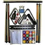 Iszy Billiards Black : Billiard Pool Table Accessory Kit W Art Number Ball Set Choose Black, Mahogany Or Oak