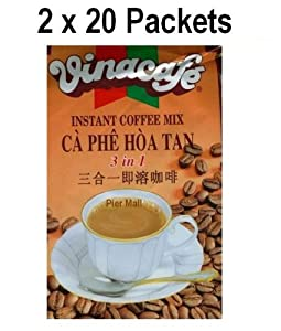 VinaCafe - 3 in 1 Instant Vietname Coffee Mix - 2x20 packets
