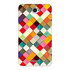 Stylish ColorFull Ribbons Print Back Case Cover for Sony Xperia E4