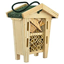 Niteangel Insect Hotel Bee/Butterfly House with Asphalt Shingles