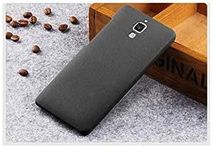 Plus Slim Fit Sandstone (Soft) Texture Anti Scratch Snap-On Back Case Cover For Xiaomi Mi 4