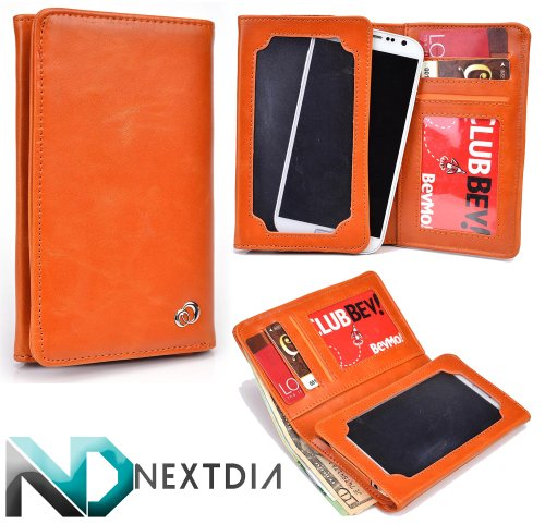 unisex-mens-bifold-wallet-case-huawei-activia-4g-universal-fit-orange-flame-with-viewing-screen-nd-c