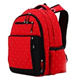 Aivtalk Bolso Maternal Mochila Multifunci�n Cambiador de Pa�ales Backpack para Carro Carrito de Beb� Biber�n Botella Comida Viaje 30cm(L) x 19cm(W) x 41cm(H) - Rojo Lunares