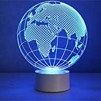 Optical Illusion 3D Earth Lamp by AddCore