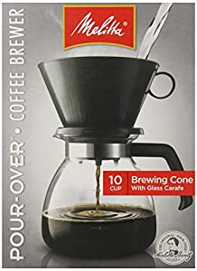 melitta cone filter coffeemaker 10 cup 1 count disposable coffee filters. Black Bedroom Furniture Sets. Home Design Ideas