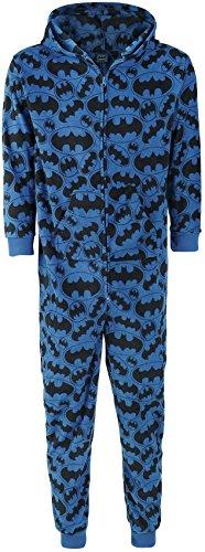 Pigiama Onesie Batman Logo DC Comics (Blu) - Medium