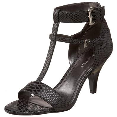 Nine West Women's Karen Ankle-Strap Sandal,Black,6.5 M US