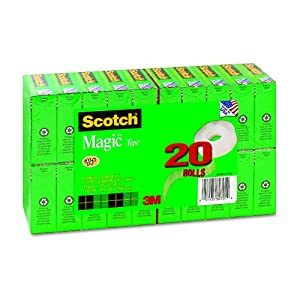Scotch Magic Tape, 3/4 x 1000 Inches, 20-Count Package (810K20)