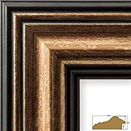 20x24 Picture / Poster Frame, Smooth Distressed Finish, 3.015\