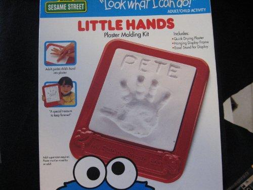 1994 Sesame Street Little Hands Plaster Molding Kit
