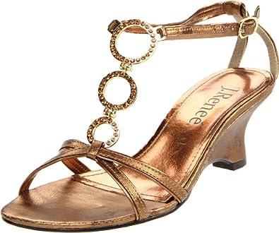 J.Renee Women's Whirl Rhinestone Sandal,Bronze,7 N