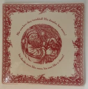 "Johnson Brothers Twas the Night Before Christmas Stoneware 7"" Trivet"