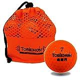 TOBIEMON(トビエモン) 飛衛門 公認球 2ピース構造ゴルフボール オレンジ 12球(1ダース) メッシュバック入り TBM-2MBO TBM-2MBO