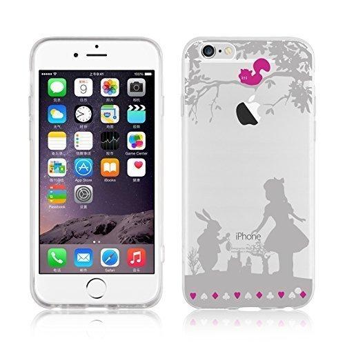 JAMMYLIZARD   Cover custodia in Silicone Trasparente con Sketch per iPhone 6 e 6s, ALICE NEL PAESE DELLE MERAVIGLIE