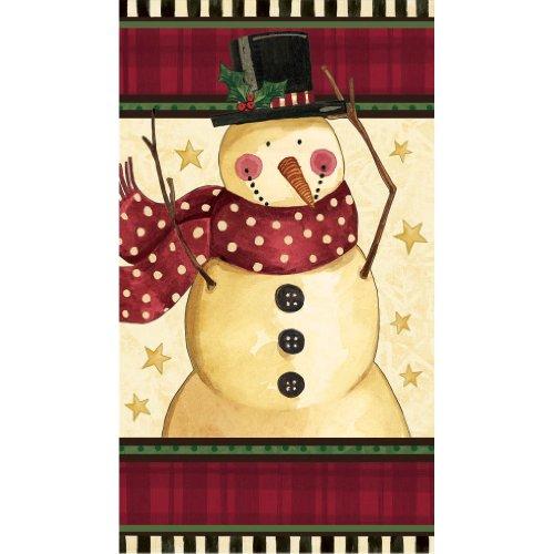 Cozy Snowman Guest Towels 16ct - 1