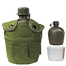 Viskey One Set of Kettle And Aluminium Lunch Box, Army Green