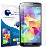 Tech Armor Samsung Galaxy S5 High Defintion (HD) Clear Screen Protectors -- Maximum Clarity and Touchscreen Accuracy [3-Pack] Lifetime Warranty