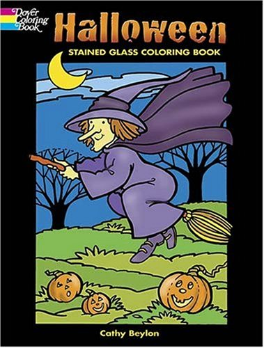 Halloween Stained Glass Coloring Book (Dover